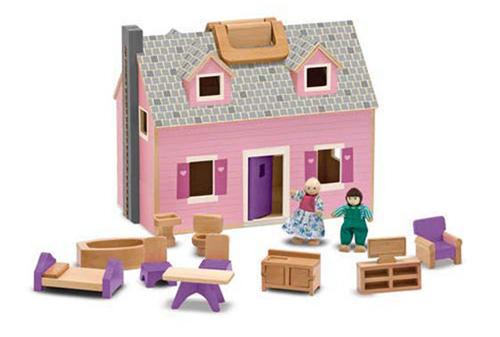 Melissa & Doug Fold and Go Mini Dollhouse
