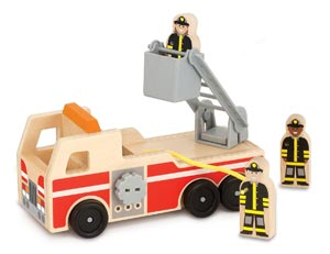 Melissa & Doug Wooden Fire Truck With 3 Firefighter Play Figures Review