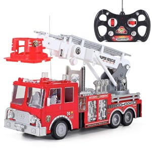 "13"" R/C Rescue Fire Engine Truck Remote Control Review"