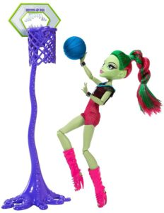 Monster high Venus Mcflytrap Casketball champ