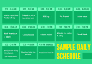 sample daily sched